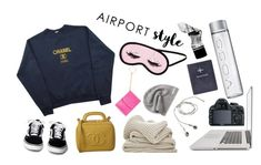 """A"" by lxxvii on Polyvore featuring ファッション, Chanel, Converse, H&M, FOSSIL, Aesop と airportstyle"