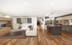 Chelsea UW Kitchen Living 01, New Home Designs - Metricon