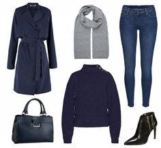 #Herbstoutfit Dark Blue ♥ #outfit #Damenoutfit #outfitdestages #dresslove