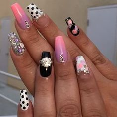 Mix match coffin nails