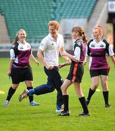 houseofwindsor:  Prince Harry helps coach youngsters from state schools taking part in the RFU All Schools Programme, October 17th 2013. Source: Rex Features