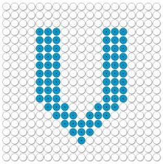 kralenplank: Letters / het alfabet: de V van vlag