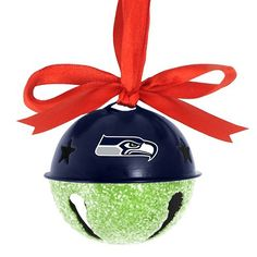 Seattle Seahawks Jingle Bell Ornament