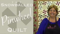 The Snowballed Pinwheel Quilt: Easy Quilting with Charm Packs! - YouTube