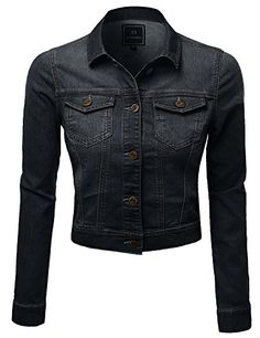 Plus4u Women's Nice Stone wash Good Stretchy Trucker PLUS Size Denim Jackets ** To view further for this item, visit the image link.