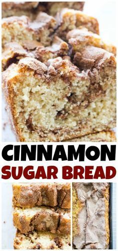 120 reviews · 55 minutes · Vegetarian · Serves 10 · Cinnamon Sugar Bread is like eating a cinnamon & sugar cake donut but better. Easy & delicious this bread is ready to devour in an hour. Dessert Simple, Baking Recipes, Cake Recipes, Dessert Recipes, Bread Recipes, Kitchen Recipes, Recipes Dinner, Brunch Recipes, Breakfast Recipes