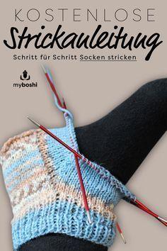 Aprende a tejer calcetines paso a paso de forma gratuita. - Usted es un principiante en tejer calcetines y está buscando una guía simple y gratuita paso a pas - Knitting Websites, Knitting Blogs, Easy Knitting, Knitting For Beginners, Knitting Socks, Knitting Projects, Knitting Patterns, Knit Socks, Start Knitting