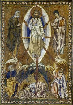Constantinople 1200 Icon portraying The Transfiguration of Christ