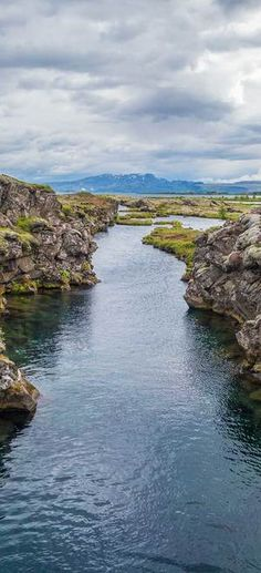 The Silfra Rift in Iceland. The only place in the world where you can touch two…