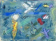 Adam and Eve expelled from Paradise - Marc Chagall  1961