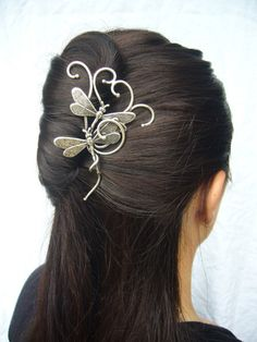 Dragonfly hairpin hair by ElemiahDelecto on Etsy, €55.00