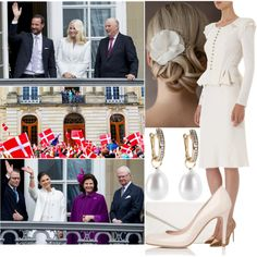 Appearing on the balcony of Christian VII's Palace with Alexander and different royal families by charlottewindsor on Polyvore featuring Nina Ricci, L.K.Bennett, Vera Bradley and Annoushka