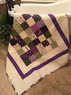 Lilac charm quilt.