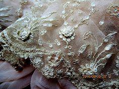 RARE Exquisite Antique Victorian HDMD 3D Florette Honiton Limerick Wedding Lace | eBay