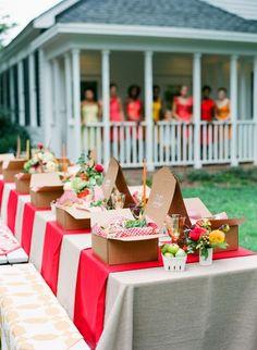 Gorgeous backyard picnic wedding!!