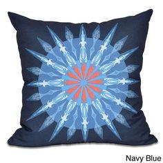 E by Design Sea Wheel Geometric Print 20 x 20-inch Outdoor Pillow