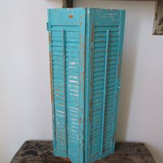 Painted shutters large wooden Caribbean aqua by AnitaSperoDesign
