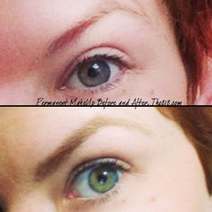 Permanent Makeup Before & After ...Interesting. Looks so natural.