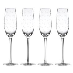 kate spade new york Larabee Dot Flutes, Set of 4