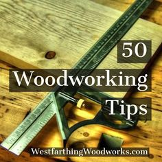 Woodworking Plans These 50 woodworking tips are in a free PDF that you can save on your computer and read whenever you like. Tips are a great way for new woodworkers to absorb a lot of information in a short amount of time. Enjoy the free PDF. Woodworking Guide, Easy Woodworking Projects, Woodworking Classes, Popular Woodworking, Woodworking Furniture, Fine Woodworking, Wood Projects, Woodworking Patterns, Woodworking Logo