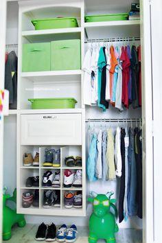 like the idea of a hinged drawer Kid Closet, Closet Ideas, Kids Sports Bedroom, Boy Room, Kids Room, Room Ideas, Decor Ideas, Small Apartment Decorating, Gray Paint