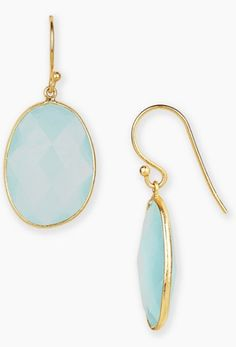 aqua and gold stone drop earrings  http://rstyle.me/n/qpv6epdpe
