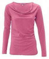 Langarm-Shirts aus der aktuellen Eco Fashion Kollektion - Baumwolle (kba): Basic-Shirts, Poloshirts, Wasserfall-Shirts, Ringel-Shirts,Two-Colour-Shirts Jersey Shirt, Basic Shirts, Shirt Bluse, Opal, Pink, Arm, My Style, Blouse, Womens Fashion