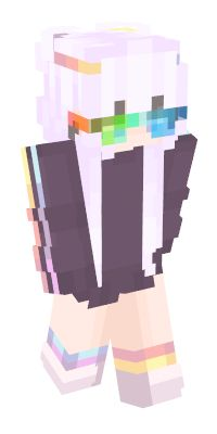 Check out our list of the best Rainbow Minecraft skins. Minecraft Skins Female, Minecraft Skins Cute, Minecraft Skins Aesthetic, Cute Minecraft Houses, Mine Minecraft, Minecraft Blueprints, Minecraft Ideas, Minecraft Stuff, Mc Skins