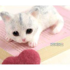 Beautiful Needle felting wool cat(Via @hoshibaco)