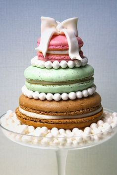 Oversized Macaron Wedding Cake!  ~  we ❤ this! moncheribridals.com           #weddingcakes