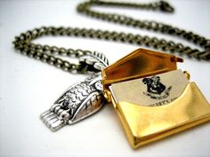 Owl Post Necklace with Hogwarts Acceptance by WolfbirdStudios, $25.99