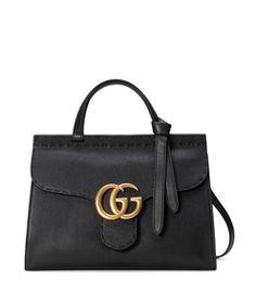 Gucci Black 'Marmont' Top Handle Bag