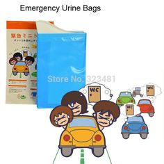 Free Shipping Japanese 4pcs Portable Travel Urine Bag Emergency mobile mini toilet for children female jam camping Car Disposable Urinal #disposableurinal