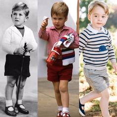 3 generations of royals at 3 years old. Prince Charles, Prince William and Prince George :-) William Harry, Prince William And Catherine, Prince William And Kate, Prince Charles, Princess Diana Family, Prince And Princess, Prince Harry, Lady Diana, English Royal Family