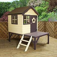 Buy Waltons Snug Tower Wooden Playhouse with Slide at Waltons Garden Buildings. UK made sheds, cabins and more. Free, fast delivery to most of UK Wooden Playhouse With Slide, Wooden Outdoor Playhouse, Outside Playhouse, Garden Playhouse, Build A Playhouse, Playhouse Ideas, Garden Sheds, Wooden Greenhouses, Garden Buildings