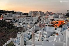 Firostefani is one the oldest villages of Santorini island which is located at the northern side of Fira and nowadays is considered as one village along with th Santorini Island, Tour Guide, Greek, Old Things, Photo Wall, Tours, Crown, Vacation, Photograph