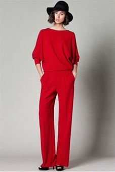 Pantalón liso rojo