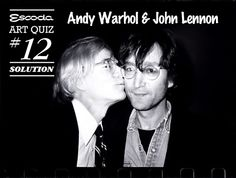 Andy loves John / Andy quiere a John / L'Andy estima el John   #escoda #art #quiz #solution #JohnLennon #AndyWarhol #kiss