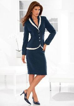 Womens Navy Pinstripe Business Casual Uniform Blazer | Hotel ...