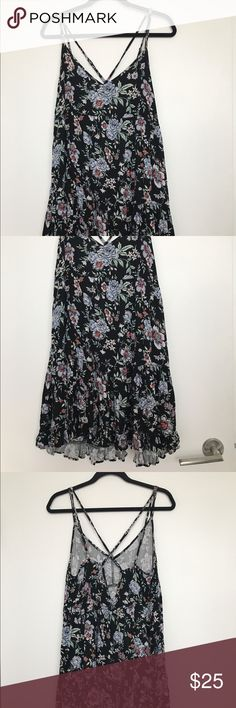 American Eagle Sundress Black floral sundress from American Eagle American Eagle Outfitters Dresses Mini