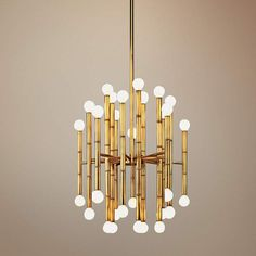Jonathan Adler Meurice Collection 30-Light Brass Chandelier - #G2626   Lamps Plus