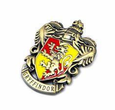 Pin Harry Potter Casa Gryffindor, 42 mm Harry Potter, Enamel, Vitreous Enamel, Enamels