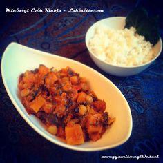 édesburgonyás, csicseriborsós curry