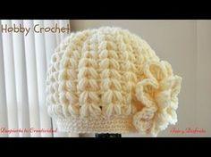 Gorro a crochet en punto puff en forma de espiga, My Crafts and DIY Projects