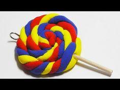 como hacer una piruleta con pasta modelable magic dough o plastilina magica - YouTube