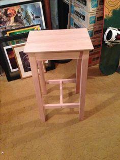 Oak bar stools #woodworking #DIY #stools