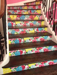 The stairs at the Lilly store on 79th St and Madison Ave in NYC