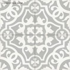 Cement Tile Shop - Encaustic Cement Tile Amalia Gris
