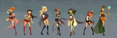sailor avengers.  click through to see the individual renderings.
