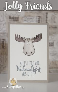 jolly friends by stampin up winter 2016 sneak peek vorschau Elch moose…